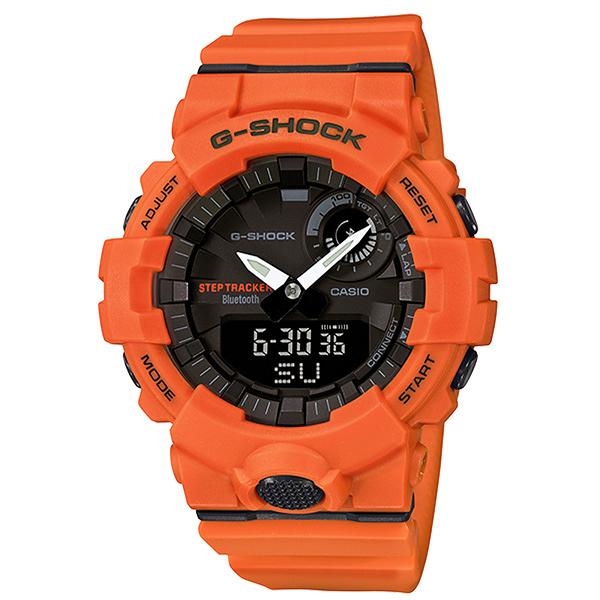 CASIOG SHOCK G-SQUAD系列藍牙專屬APP運動腕錶-橘