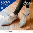包鞋.側挖空綁帶尖頭平底包鞋-FM時尚美鞋-韓國精選.Ocean