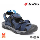【LOTTO】中性款休閒涼鞋-丈青(LL0186)全方位跑步概念館