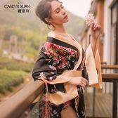 日系情趣內衣和服睡衣女夏性感成人火辣誘惑騷薄款冰絲大碼短睡裙