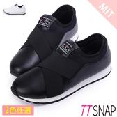 運動鞋-TTSNAP MIT超輕量光滑舒適慢跑休閒鞋 黑/白