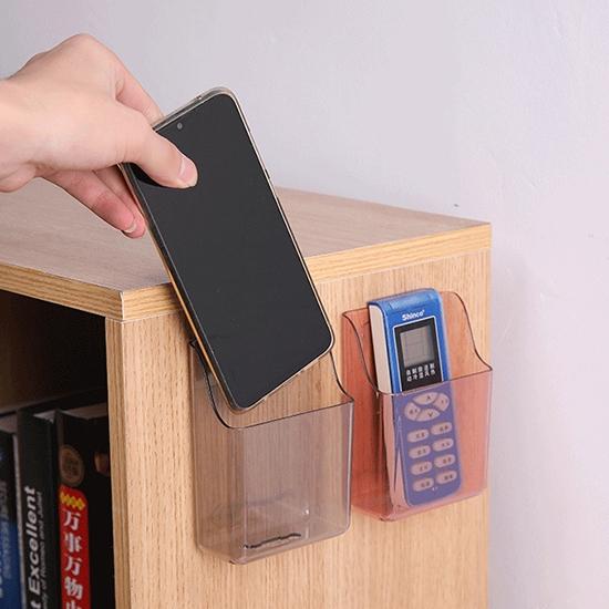 收納盒 手機架 遙控器收納架 手機充電架 瀝水架 筆筒 充電支架 壁掛收納盒【T010】生活家精品
