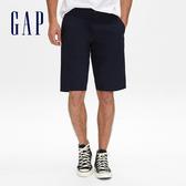 Gap男裝 舒適純色休閒短褲 472166-經典新海軍藍