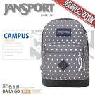 JANSPORT後背包包帆布包15吋筆電包大容量JS-43981-0K4灰點點