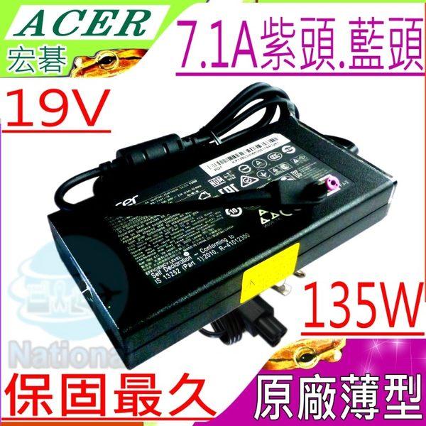 ACER 135W 充電器(原廠/薄型)-宏碁 19V,7.1A,VN7-591G,VN7-791G,VN7-592G,VN7-792G,ADP-135DB BB,ADP-135KBT