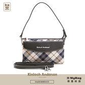 Kinloch Anderson 金安德森 手提包 謎樣貝克街 經典格紋 2用側背包 黑色 KA165006 得意時袋
