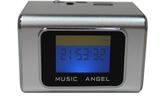 [富廉網] 音樂天使MD-05X  銀色, 含繁體中文字幕,  支援MICRO SD卡 / USB隨身碟, 鋁合金迷你音箱