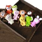 手偶玩具嬰兒手指玩偶毛絨手偶玩具寶寶手指偶玩偶卡通動物手套幼兒園手偶   color shop