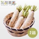 沁甜果園SSN.美濃白玉蘿蔔5台斤/箱,(共2箱)*預購*﹍愛食網