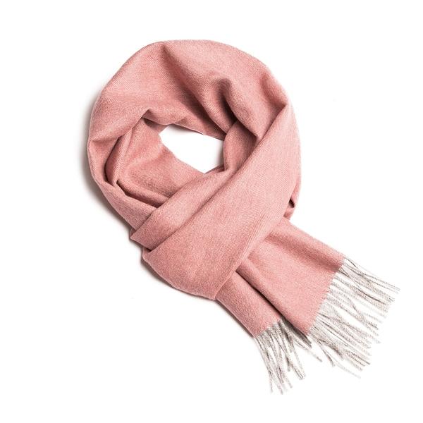 Alpaka Scarf 100% 30x200cm 極致魚骨紋系列 素面單色 羊駝毛 超輕量 圍巾 - 2019 秋冬仕樣(粉色雪松)