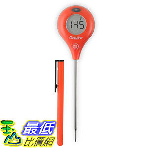 [104美國直購] ThermoWorks 溫度計紅色 B00HZVJM4M with Backlit Rotating Display