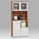【森可家居】美斯特2.7尺PU鏡面廚房櫃(14185+14186) MIT DIY型家具 餐櫃 收納櫃 碗盤碟櫃