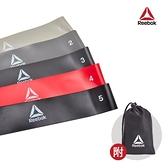 Reebok-專業訓練環狀彈力帶(5入)(淺灰/銀灰/深灰/紅/黑)