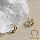 復古氣質耳釘簡約耳環女百搭個性耳飾品【宅貓醬】