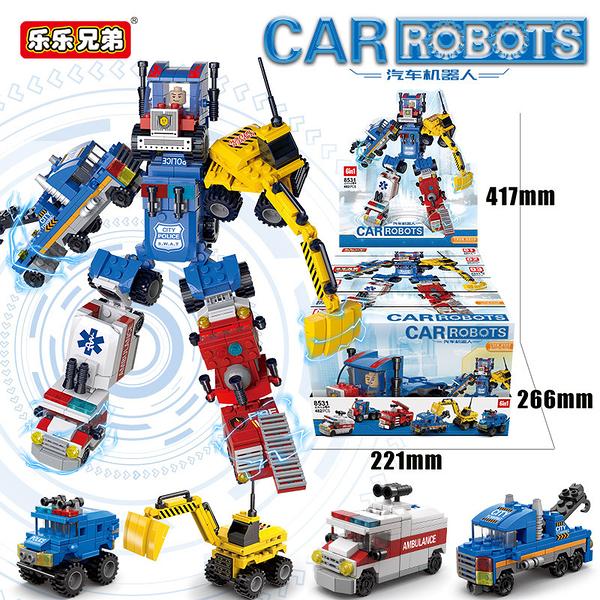 【LELE BROTHER樂樂兄弟】 CAR ROBOT 汽車變形機器人(6款合體)
