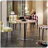 【水晶晶家具/傢俱首選】韋伯2呎木心板黑鐵砂腳正方型餐桌~~餐椅另購 ZX8856-2