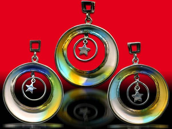 鹿港窯~開運古法水晶琉璃銀飾項鍊~心願 附精美包裝◆免運費送到家