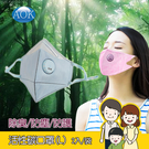 AOK 飛速 4合1活性碳 3D立體口罩(成人-L) 2入/袋 矽膠鼻夾/防護/防塵/除臭/過濾異味