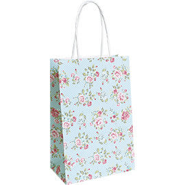 《荷包袋》手提紙袋大8K 點點玫瑰(紙繩)