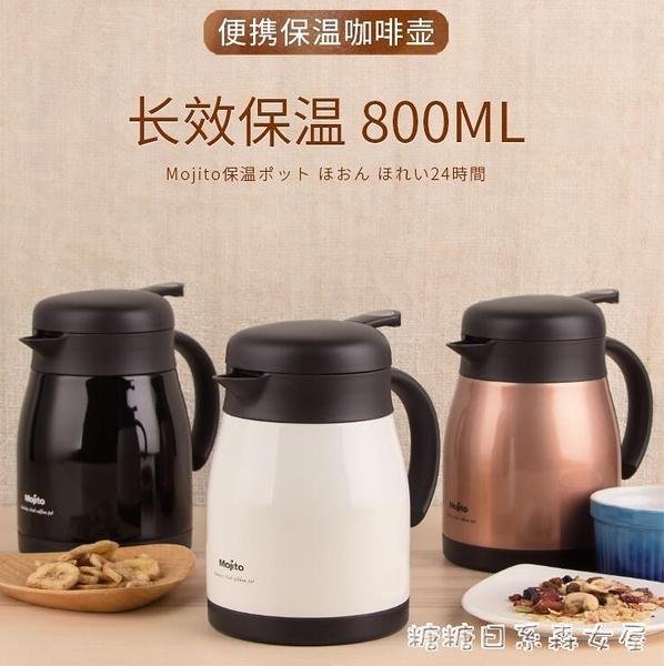 日本保溫壺家用小型大容量便攜不銹鋼咖啡壺暖水瓶熱水YYP 【快速出貨】