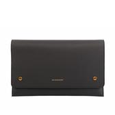 【BURBERRY】拼色皮革手拿包(碳灰色) 8005549 A2232