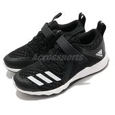 adidas 慢跑鞋 RapidaFlex BTH EL K 黑 白 童鞋 中童鞋 魔鬼氈 【ACS】 G28701