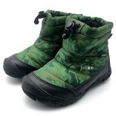 《7+1童鞋》中童 日本 IFME 輕量  防水  運動 保暖 高筒鞋 高筒靴  C444  綠色