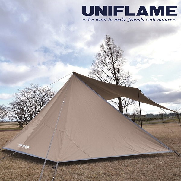 【日本 UNIFLAME】UNIFLAME野營帳TC/TAN混紡 U682098 居家.露營.戶外.野炊.野餐.帳篷