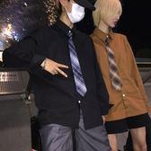 韓國復古經典款百搭純色情侶長袖襯衫男女款