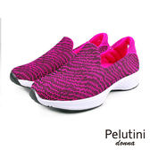 【Pelutini】donna超透氣輕量時尚慢跑鞋  桃紅(6798W-ROS)