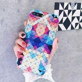 [24hr-現貨快出] 個性彩色菱形格子iPhone7plus手機殼tpu蘋果6代IMD手機保護套全包