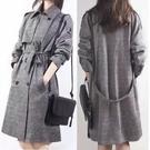 長大衣風衣開衫外套保暖M-2XL/韓國韓系中長款雙排扣大碼毛呢大衣柏NA107-B.80571號公館