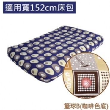 【LIFECODE】 INTEX充氣床專用床包-寬152CM-籃球B(咖啡色底)