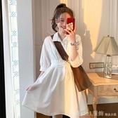 洋裝 韓版顯瘦超仙女2019夏季新款初戀系白色襯衫顯瘦打底裙 俏girl