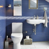 【BlueCat】白色蕾絲花邊厚款 腰線壁貼 壁貼