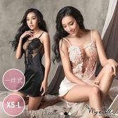 超柔感緞面一件式裙裝睡衣 浪漫瑞貝卡 (3色/XS到L號適穿) MyDoll