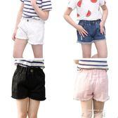 兒童牛仔短褲2018夏裝新款中大童休閒運動薄款外穿女童純棉褲子   米娜小鋪