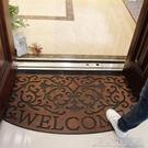 美式北歐式入戶進門口大門廳橡膠地墊防滑門...