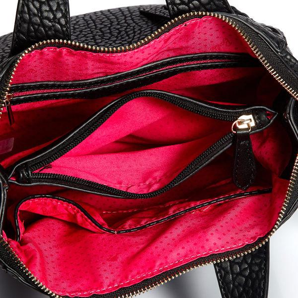 芭比復古系列 時尚編織荔枝紋斜挎單肩手提包