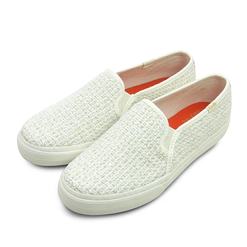 LIKA夢 Keds 時尚韓風經典款帆布鞋 DOUBLE DECKER系列 米白金 132279 女
