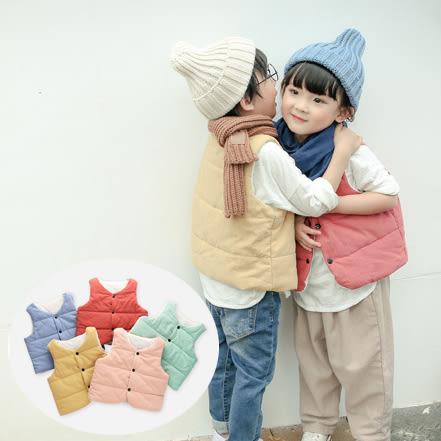 小清新羽絨棉背心 中性款 夾克 外套 橘魔法Baby magic 現貨 兒童 童裝 女童 男童
