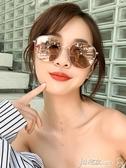 太陽眼鏡 韓版復古潮墨鏡女2020網紅明星同款GM太陽鏡街拍圓臉防紫外線大框 小宅女