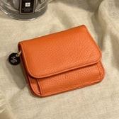 真皮短夾-超薄簡約ins牛皮女皮夾零錢包 AngelNaNa (SMA0278)