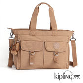Kipling 土耳其黃素色手提側背包-大