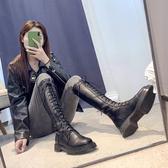 長筒靴女不過膝2019秋季新款秋款高筒瘦瘦騎士加絨網紅長靴秋鞋冬