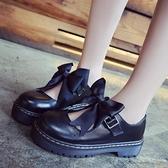 lolita小皮鞋女鞋厚底日系瑪麗珍可愛圓頭娃娃鞋【聚可愛】