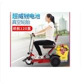 老年代步車電動三輪車折疊殘疾人電動車老人家用輕便 萬客居