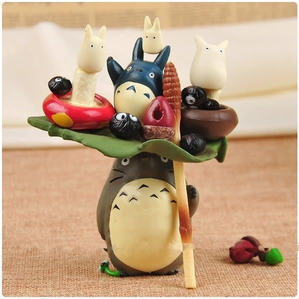 【發現。好貨】宮崎駿豆豆龍Totoro龍貓疊疊樂層層疊微景觀公仔盒裝擺件17件組