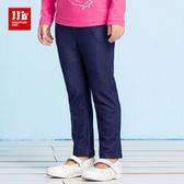 JJLKIDS 女童 愛睡覺貓咪彈力牛仔褲(彩藍)