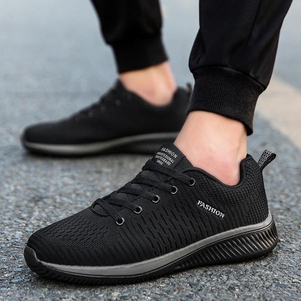 男鞋夏季新款運動鞋防臭休閒鞋輕便透氣跑步鞋軟底防滑旅游鞋 夢藝家